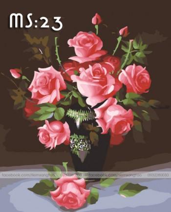 Tranh tô màu Hoa Hồng 23
