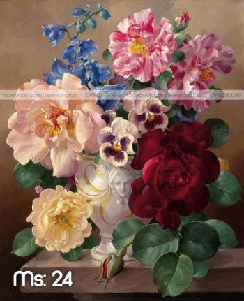 Tranh tô màu Hoa Đua Sắc Thắm 24
