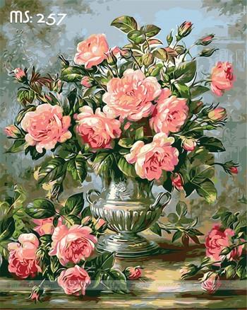 Tranh tô màu hoa hồng ngát hương 257