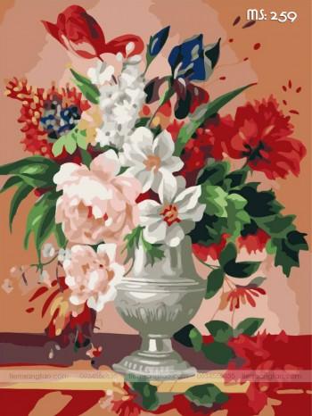 Tranh tô màu đóa hoa kiêu sa 259