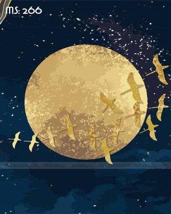 Tranh tô màu trăng vàng 266
