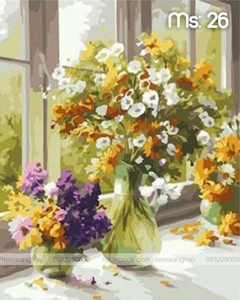 Tranh tô màu Hoa Nhí Bên Cửa Sổ 26