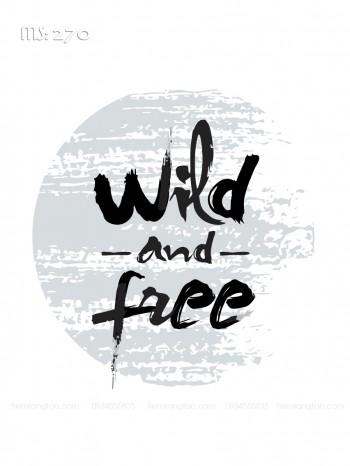 Tranh tô màu wild and free 270