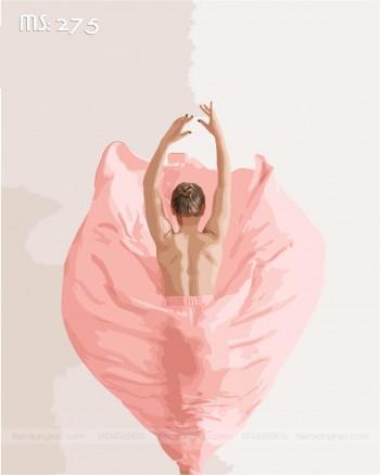 Tranh tô màu vũ điệu hồng 275