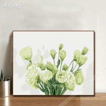 Tranh tô màu hoa cát tường trắng 285