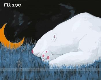 Tranh tô màu gấu nghịch trăng 290