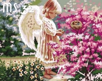 Tranh tô màu Thiên Thần Giữa Rừng Hoa 32