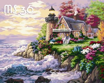 Tranh tô màu Ngôi Nhà Bên Hải Đăng 36