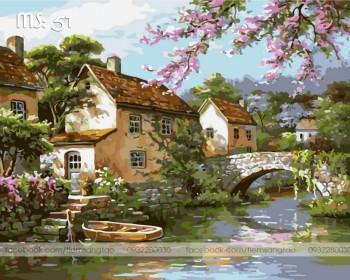Tranh tô màu Cảnh Sông Nước 51