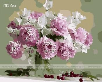 Tranh tô màu Hoa Mẫu Đơn Rạng Rỡ 60