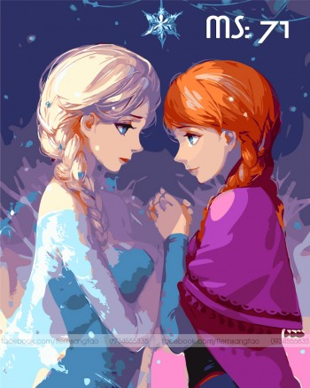 Tranh tô màu Elsa và Anna 71