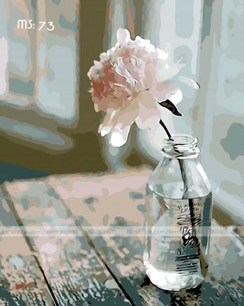 Tranh tô màu Hoa Phăng trắng 73