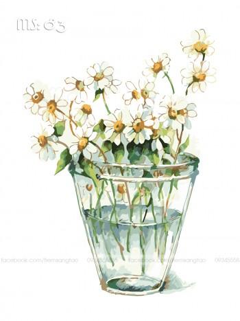 Tranh tô màu Hoa Cúc Nhí 83