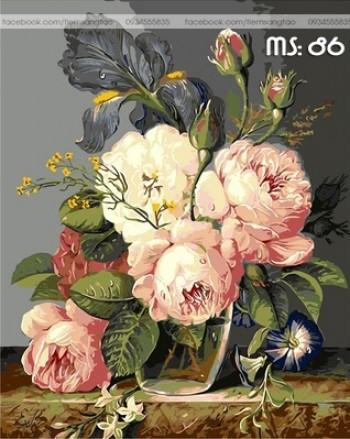 Tranh tô màu Hoa Trà 86