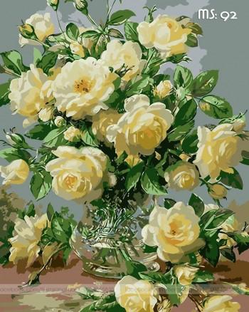 Tranh tô màu Hoa Hồng Vàng 92
