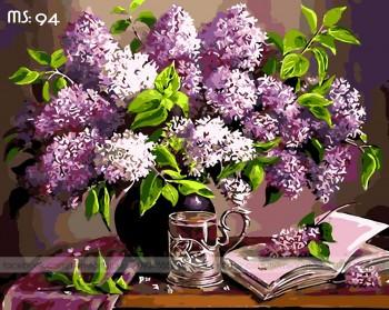Tranh tô màu Hoa Tím Khoe Sắc 94