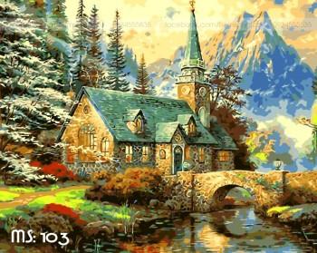 Tranh tô màu Căn Nhà Giữa Rừng Xanh 103