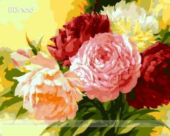 Tranh tô màu Hoa Mẫu Đơn Màu Sắc 108