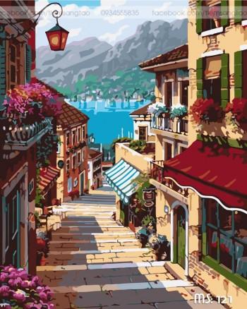 Tranh tô màu Vẻ Đẹp Thành Phố Biển 121