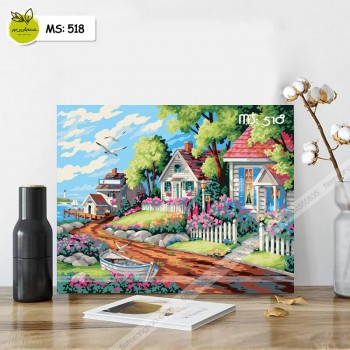 Tranh tô màu những căn nhà nhỏ T518