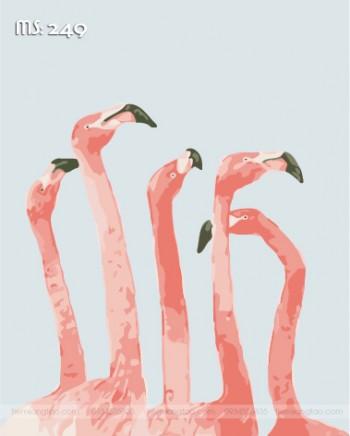 Tranh tô màu những chú hạc xinh 249