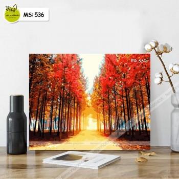 Tranh tô màu rừng mùa thu T536