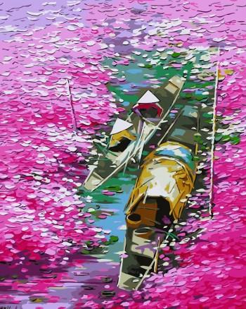 Tranh tô màu sông hoa TVN6