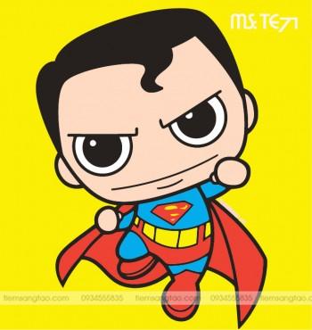 tranh tô màu theo số superman tý hon TE71