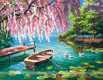 Tranh tô màu theo số dòng sông thơ mộng T2028