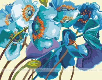 Tranh tô màu theo số sắc hoa T2057