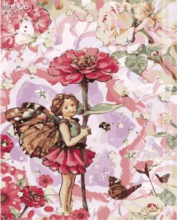 Tranh tô màu thiên thần hoa 320