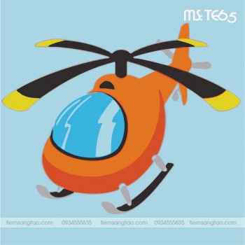 tranh tô màu theo số trực thăng hạ cánh TE65