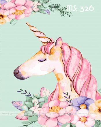 Tranh tô màu unicorn 326