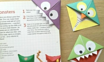 Gấp bookmark ngộ nghĩnh cho bé chỉ vài bước đơn giản