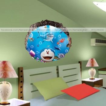Tranh 3D Doraemon dưới đại dương