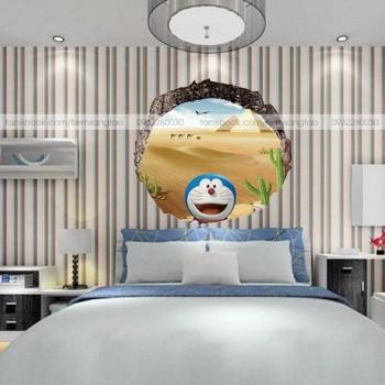 Tranh 3D Doraemon giữa sa mạc